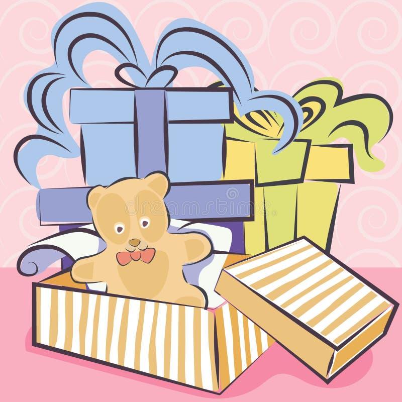 礼品玩具向量 库存例证