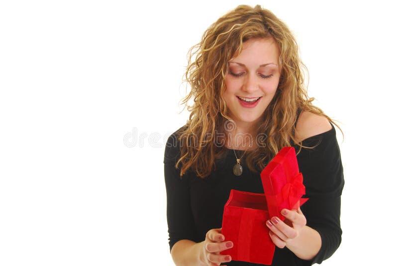 礼品空缺数目妇女 免版税库存图片
