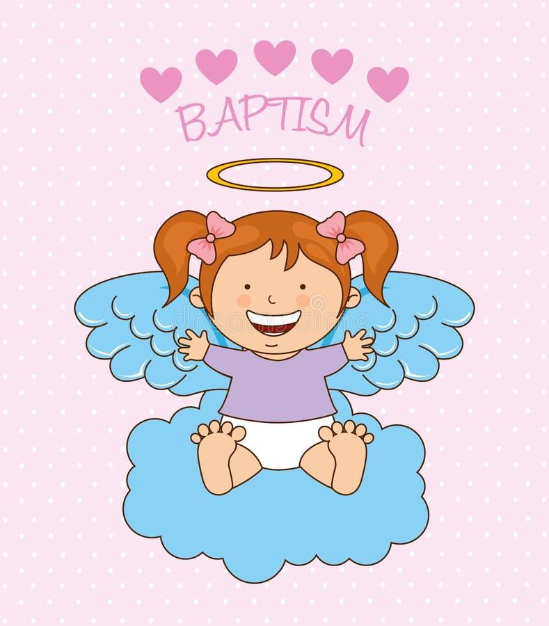 洗礼天使设计 向量例证