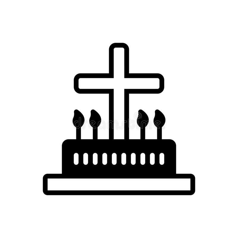 礼拜仪式,礼拜仪式和宽容的黑坚实象 皇族释放例证