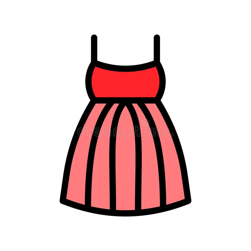 礼服传染媒介例证,填装了样式象编辑可能的概述 向量例证