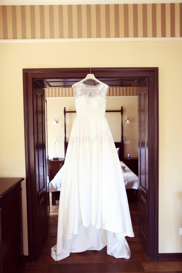 礼服停止的婚礼 免版税库存图片