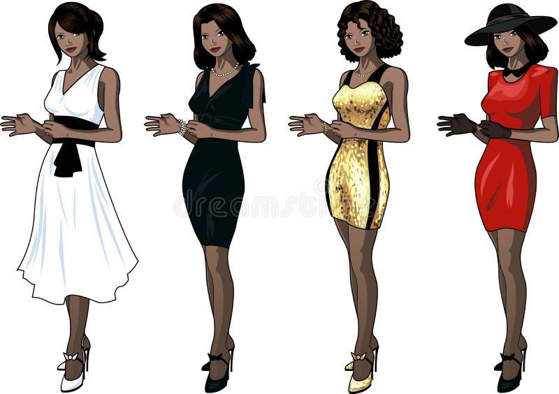 礼服套的美丽的印度尼西亚妇女4 库存例证