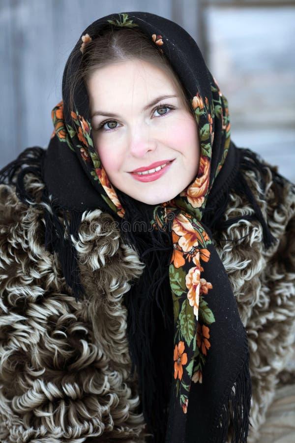 礼服女孩国家俄语 库存照片