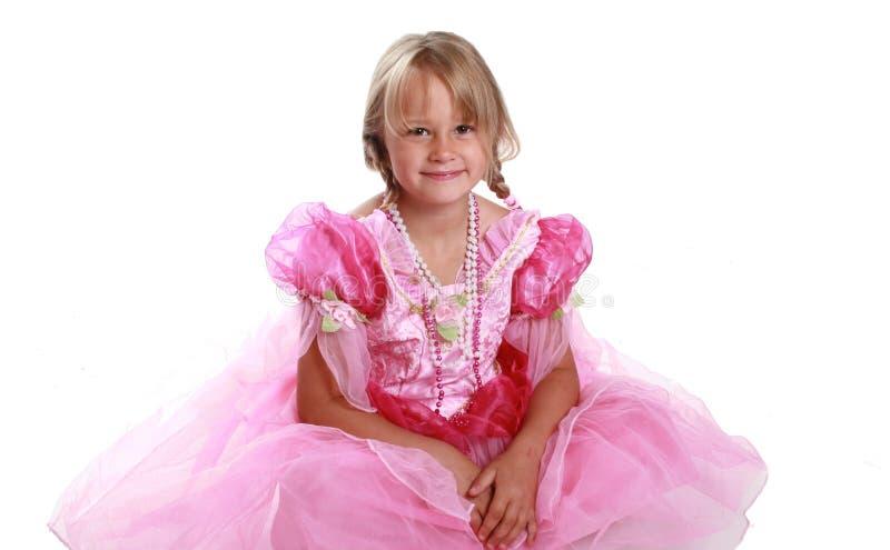 礼服女孩粉红色 库存照片
