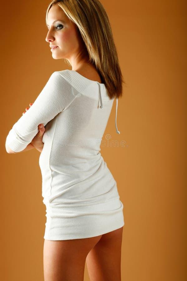 礼服方式白色 免版税库存照片