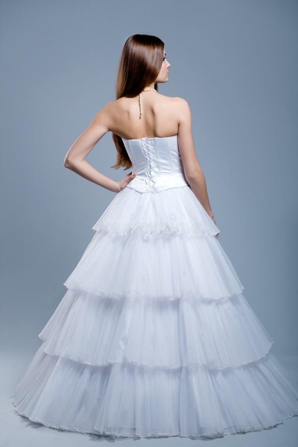礼服时装模特儿婚礼 免版税图库摄影