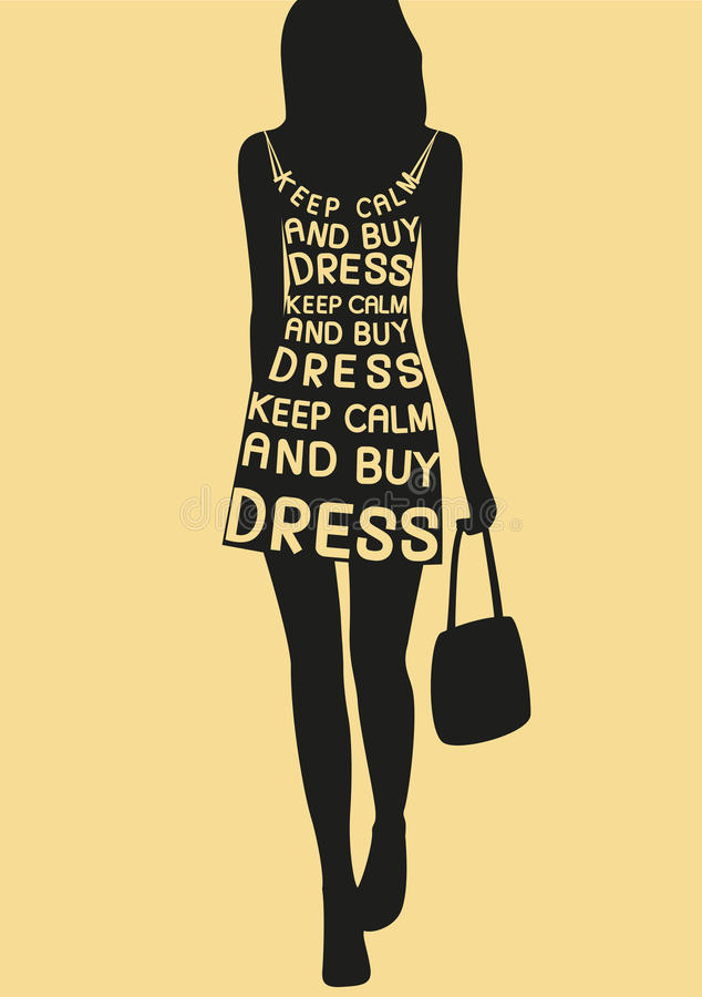 礼服的时尚妇女从行情 库存例证