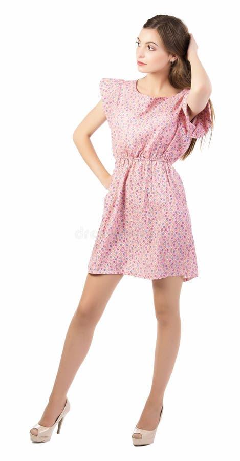礼服的美丽的妇女 免版税库存图片