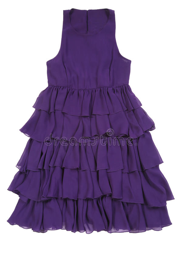 礼服紫色妇女 免版税库存照片