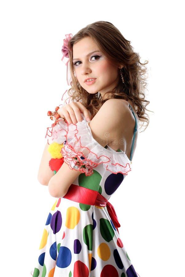 礼服青少年女孩的当事人 免版税库存照片