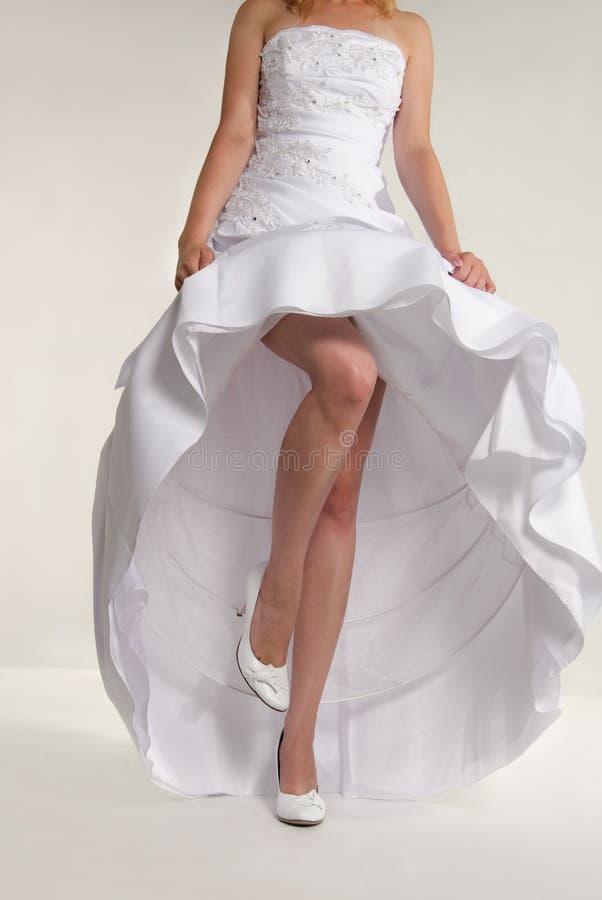 礼服s躯干婚姻的白人妇女 库存图片