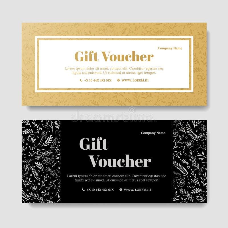 礼物优质证件,优惠券模板 库存例证