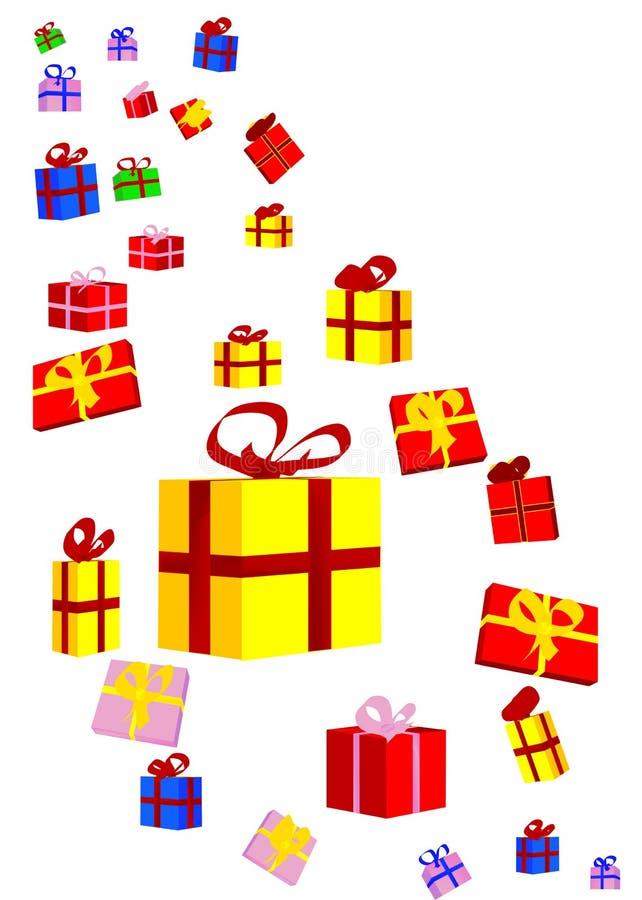 礼物和弓 向量例证