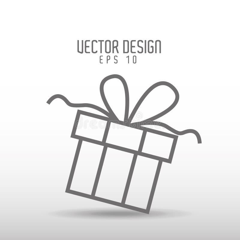 礼物得出的设计 库存例证