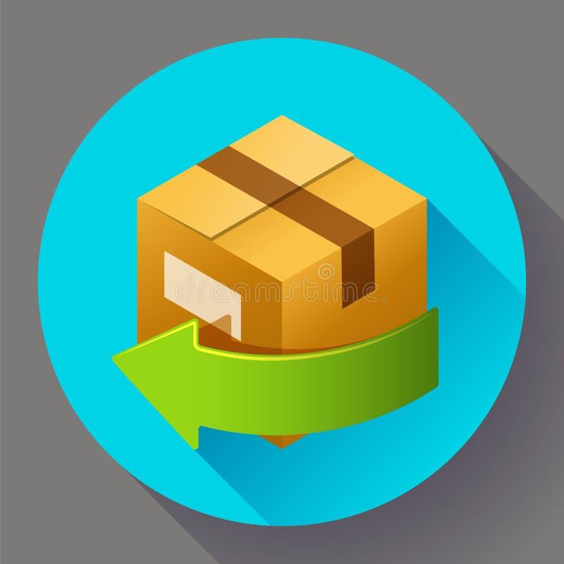礼物或小包交付和任意回归  互联网商店的运输象 库存例证