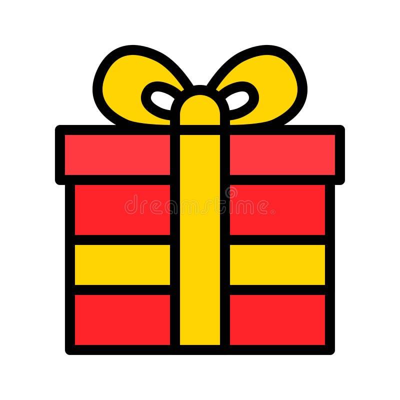 礼物盒传染媒介例证,填装了样式象编辑可能的概述 向量例证