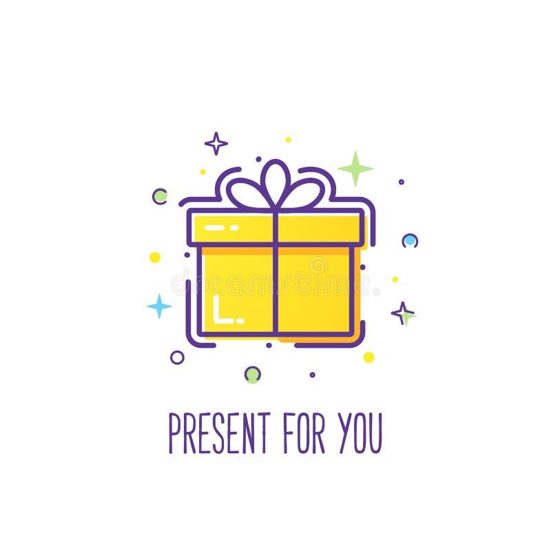 礼物盒商标 皇族释放例证