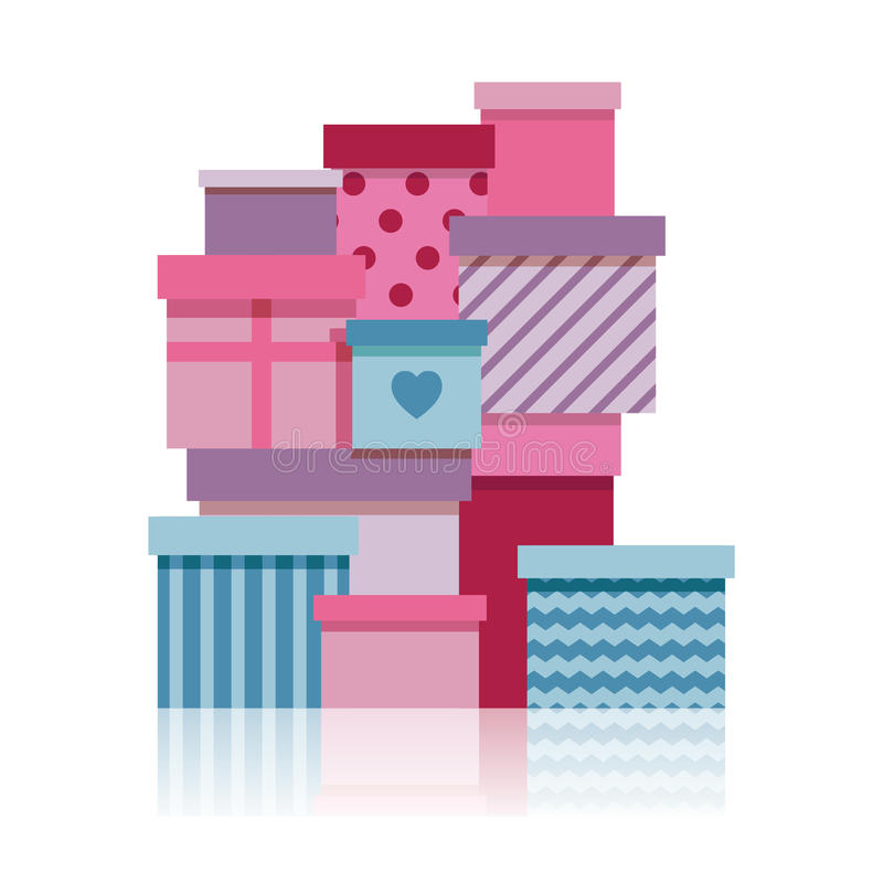 礼物盒堆。