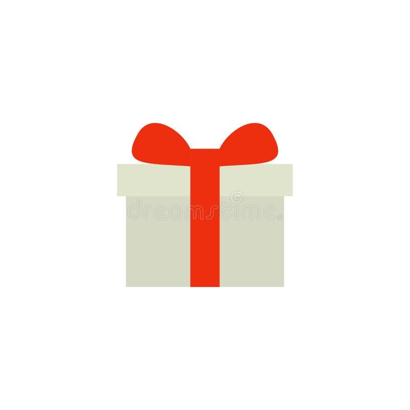 礼物盒平的象传染媒介、标志或者商标 向量例证