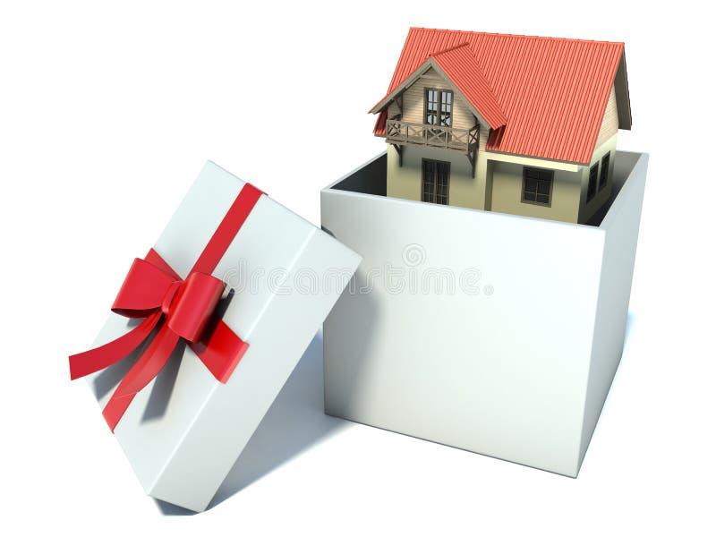 礼物盒的议院 向量例证