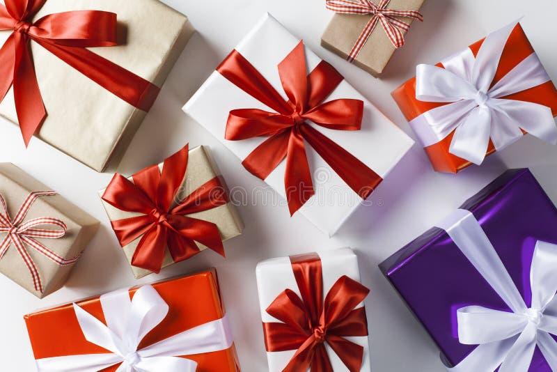 礼物盒顶视图 免版税图库摄影