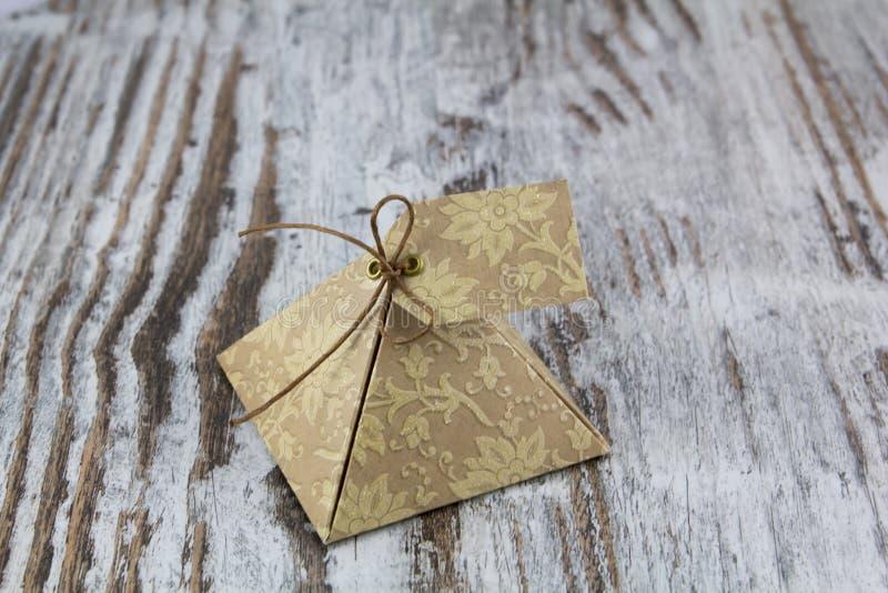 礼物盒,由纸制成 免版税库存照片