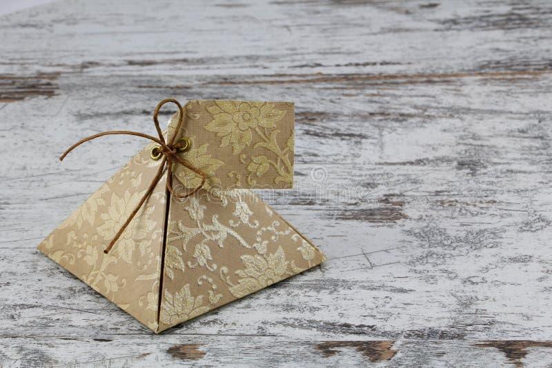 礼物盒,由纸制成 免版税图库摄影