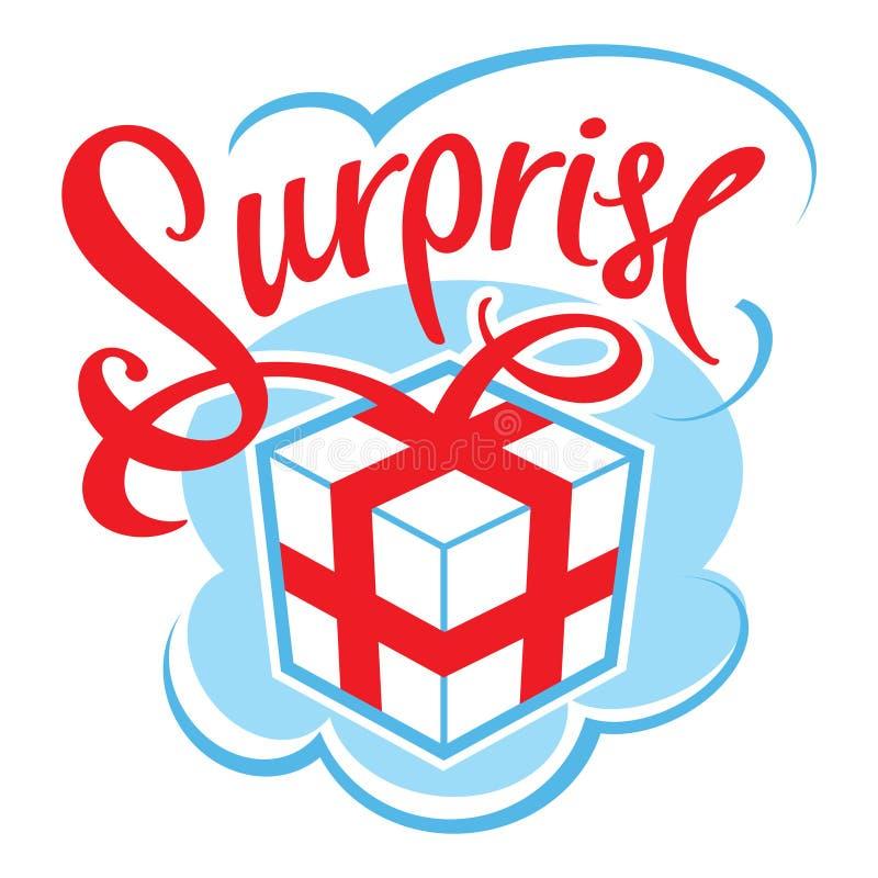 礼物盒surpris 皇族释放例证