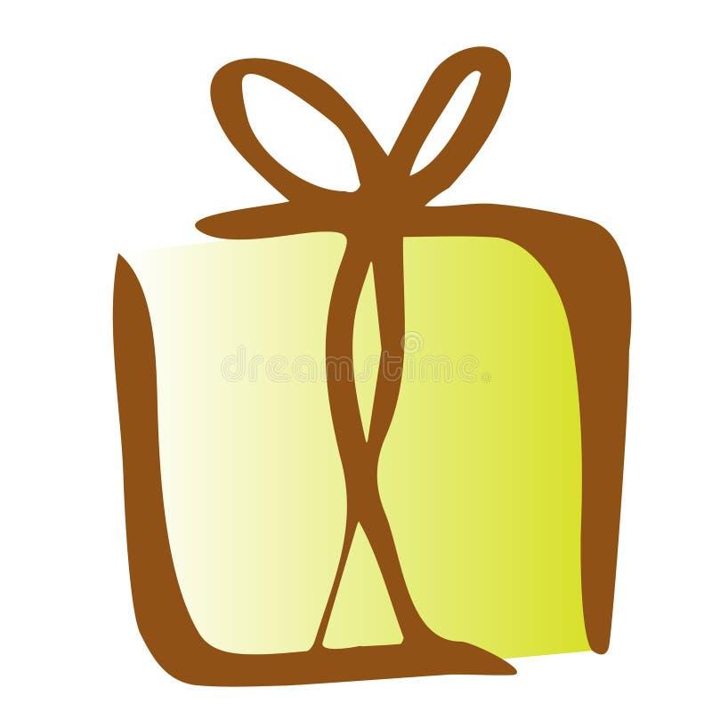 礼物象的例证在白色背景的 库存例证
