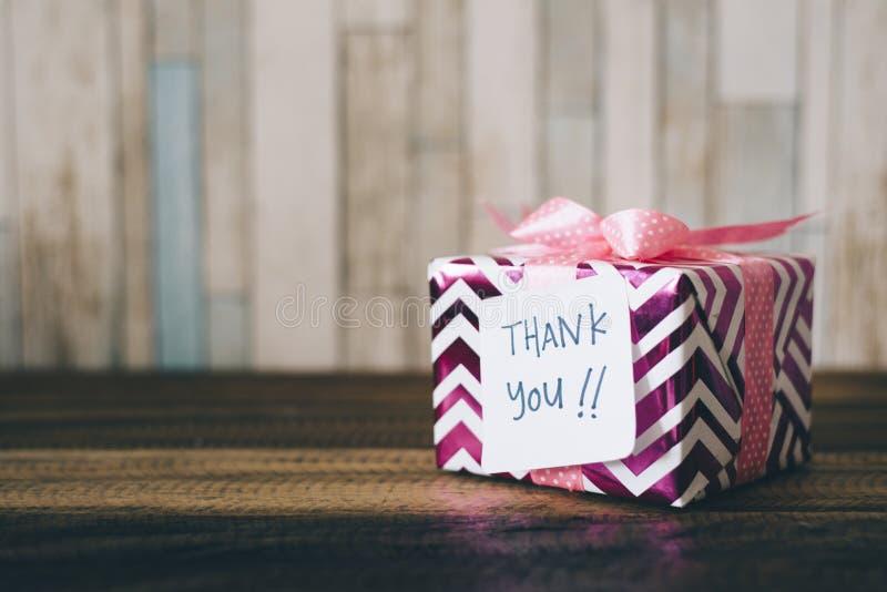 礼物/礼物与感谢您注意 免版税库存图片