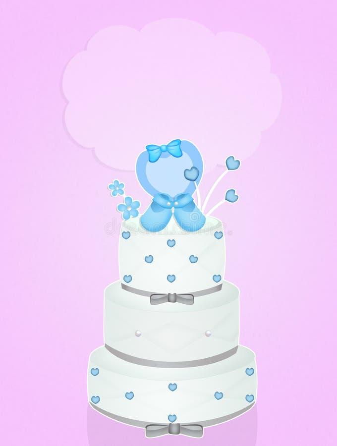 洗礼的蛋糕 皇族释放例证