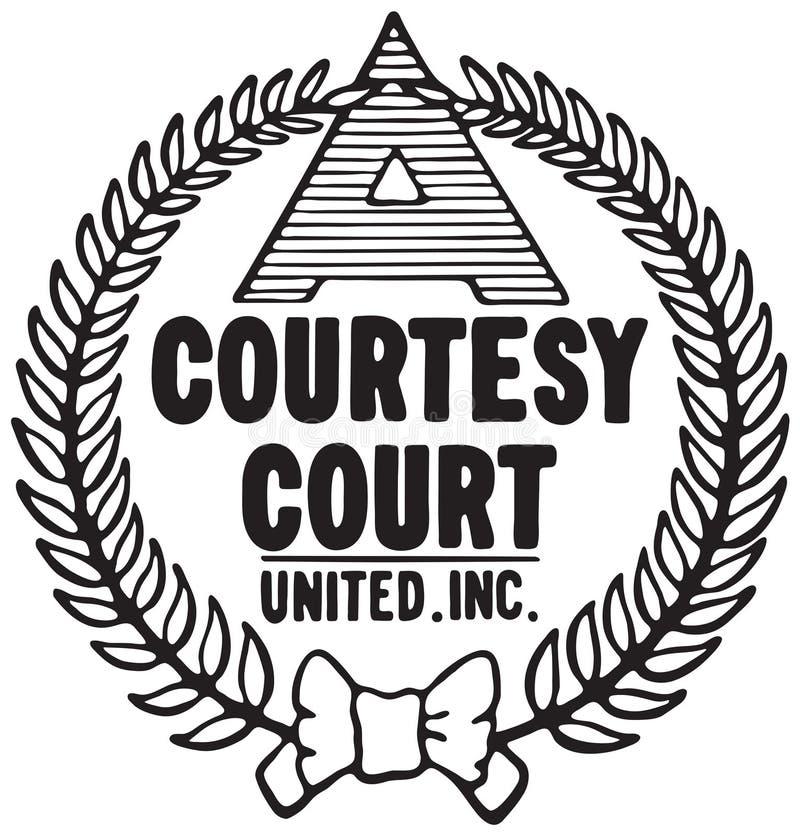 礼貌法院商标 向量例证