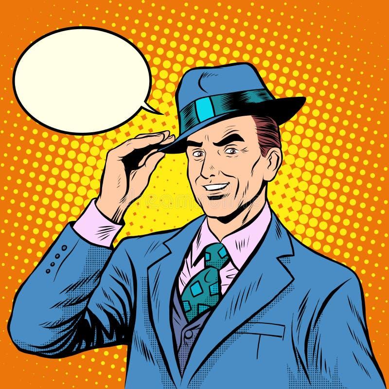 礼貌的人绅士欢迎 向量例证