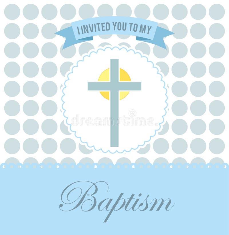 洗礼邀请设计 向量例证