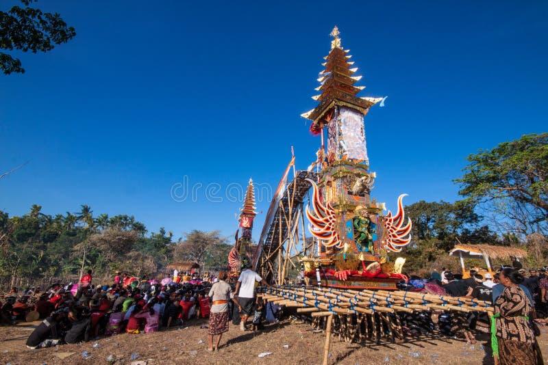 礼仪埋葬塔,努沙Penida,印度尼西亚 免版税库存图片