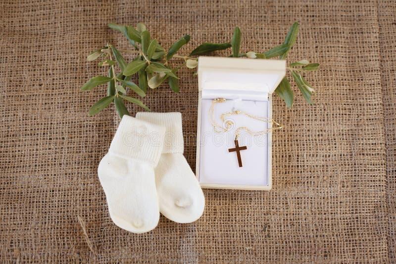 洗礼仪式辅助部件 免版税库存图片