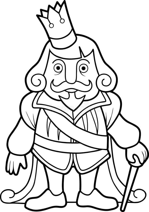 礼仪服装的国王 库存例证