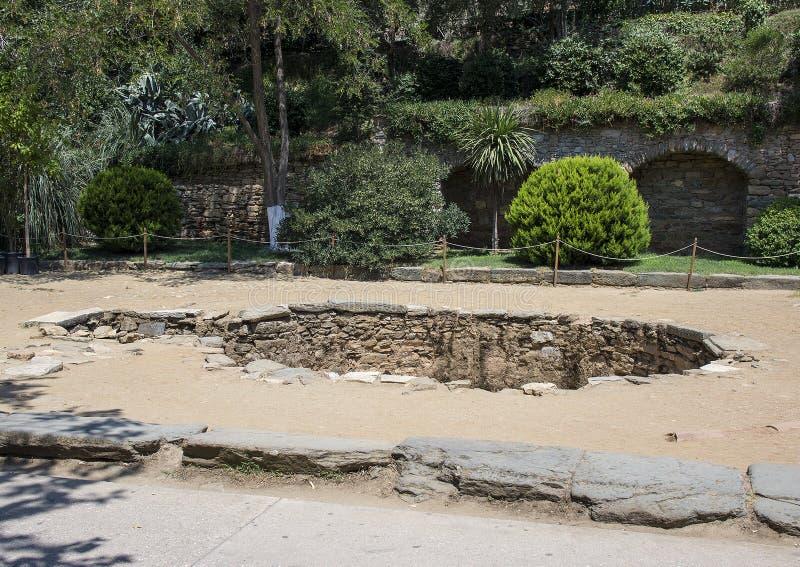 洗礼水池,圣母玛丽亚的议院近处  免版税库存照片