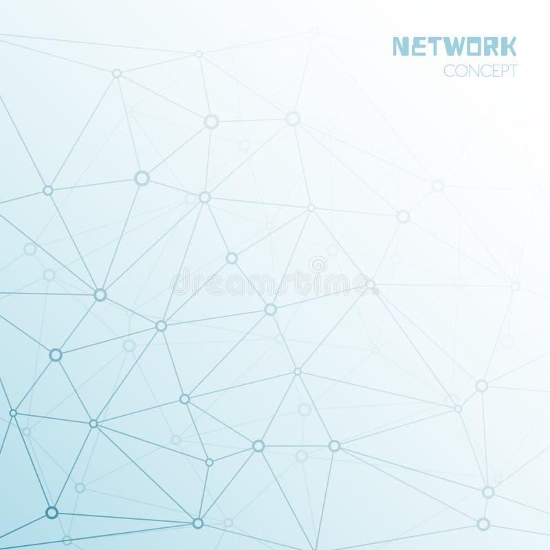 社交或技术网络背景 向量例证