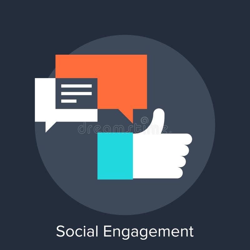 社交活动 向量例证