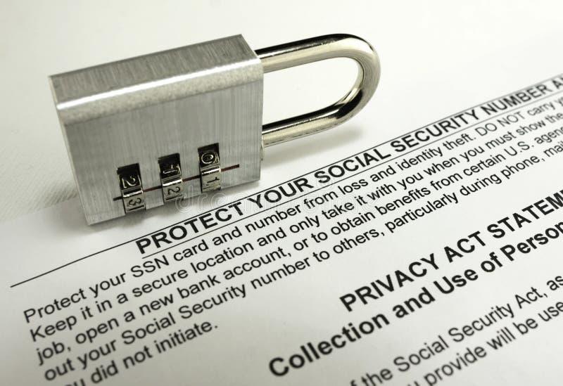 社会保险保护 免版税库存照片