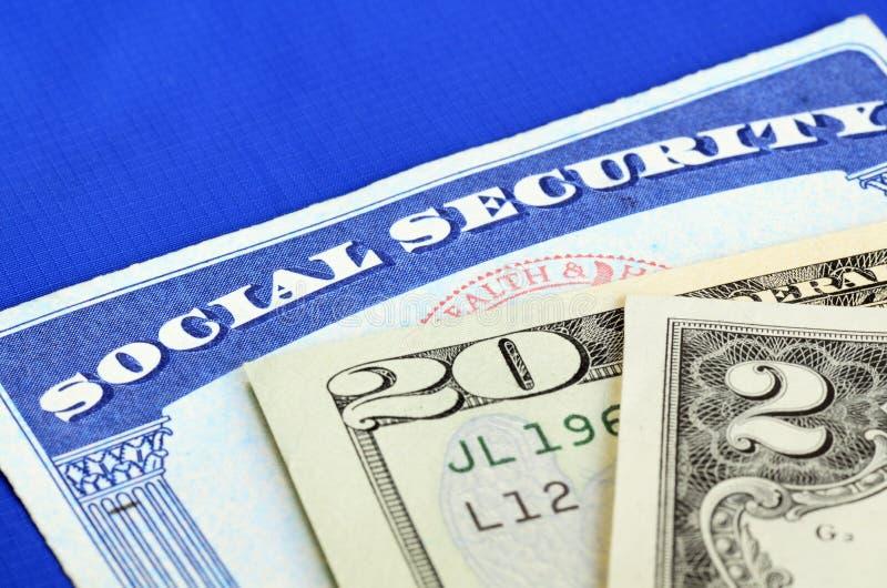社会保险和退休收入 免版税库存图片