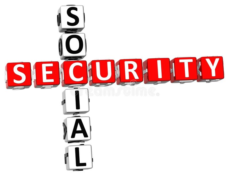 社会保险纵横填字谜 向量例证