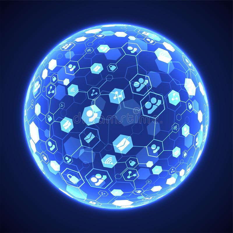 社会媒介传染媒介背景 构思设计例证网络向量 皇族释放例证