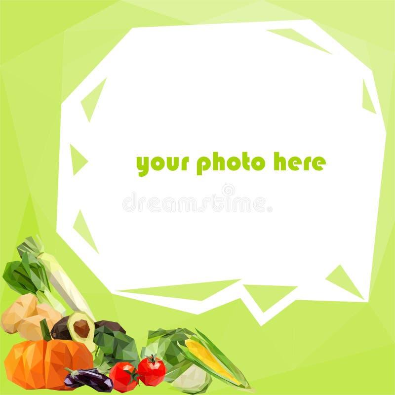 社会媒介外形的菜边界 向量例证