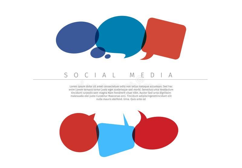 社会媒介概念例证 皇族释放例证