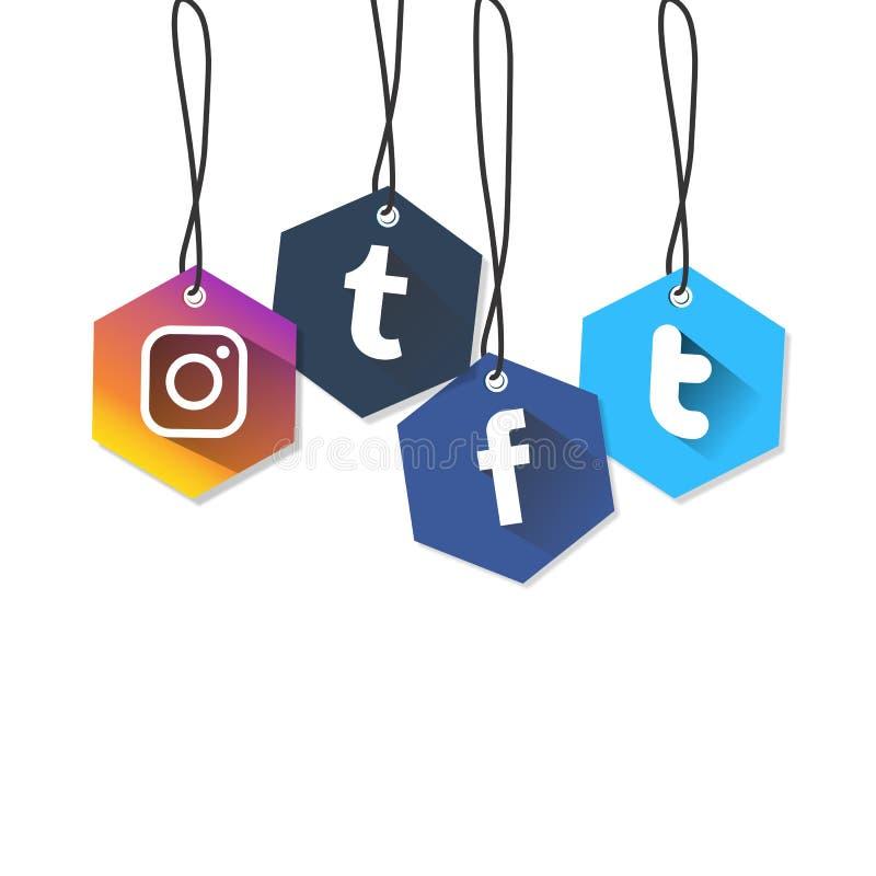 社会媒介正方形正方形象是颜色受抚养者 免版税库存照片