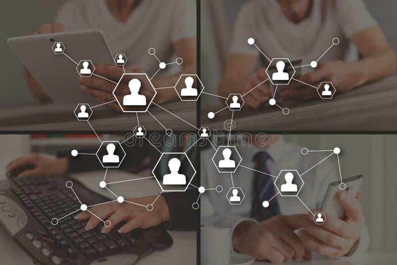 社会媒介网络的概念 免版税库存照片