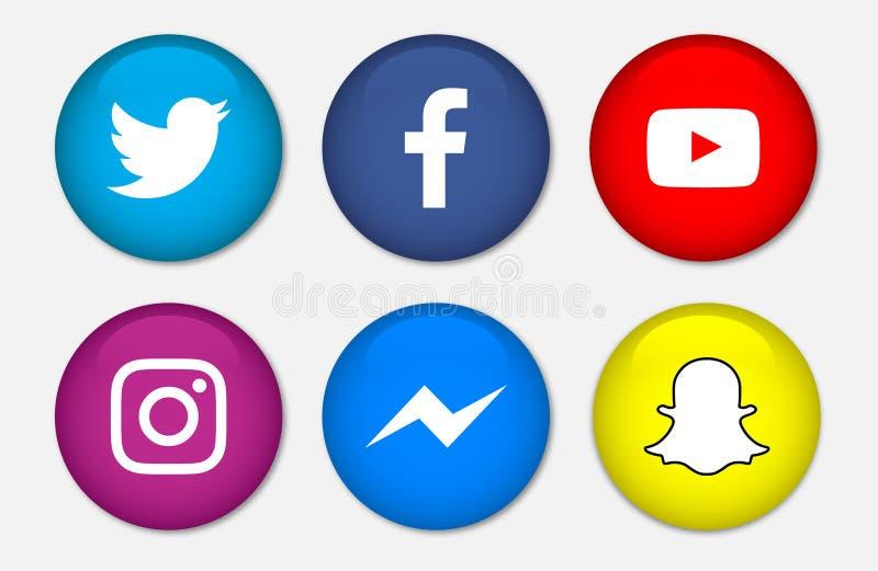 社会媒介象被隔绝的传染媒介 向量例证